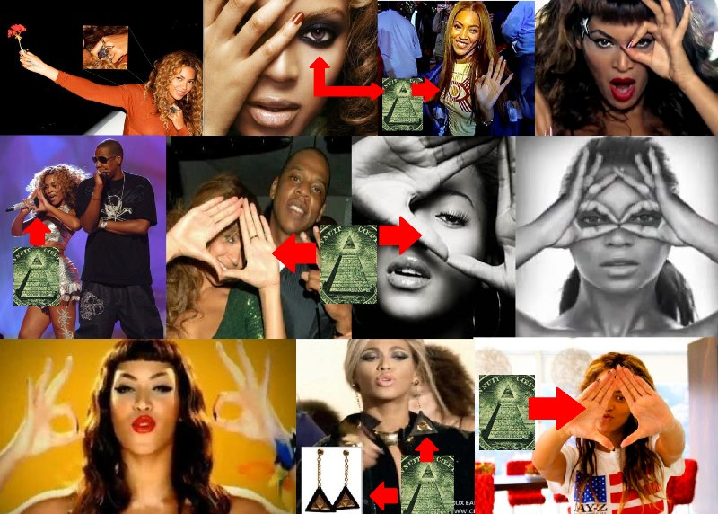 Beyonce Flashes Illuminati Triangle Sign At Super Bowl Xlvii 2013